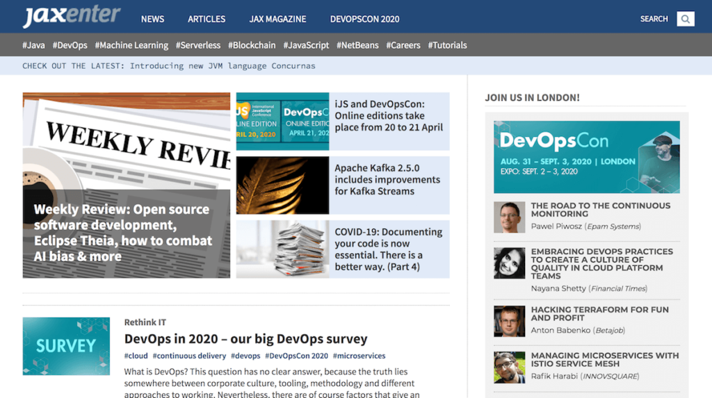 News, views and tutorials related to Java, Machine Learning,Development and Operations.
