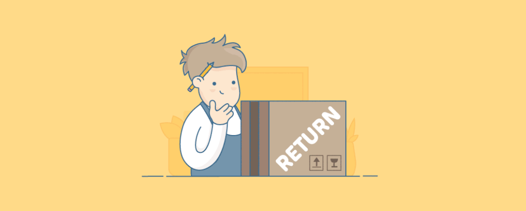 Infographic of an employee receiving a returned parcel.
