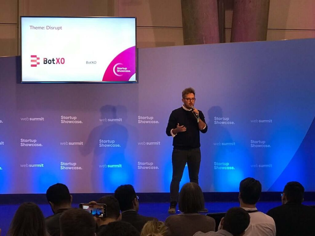 Henrik Fabrin, CEO of Certainly, speaking about potential of Danish AI at the Web Summit in Lisbon 2019.