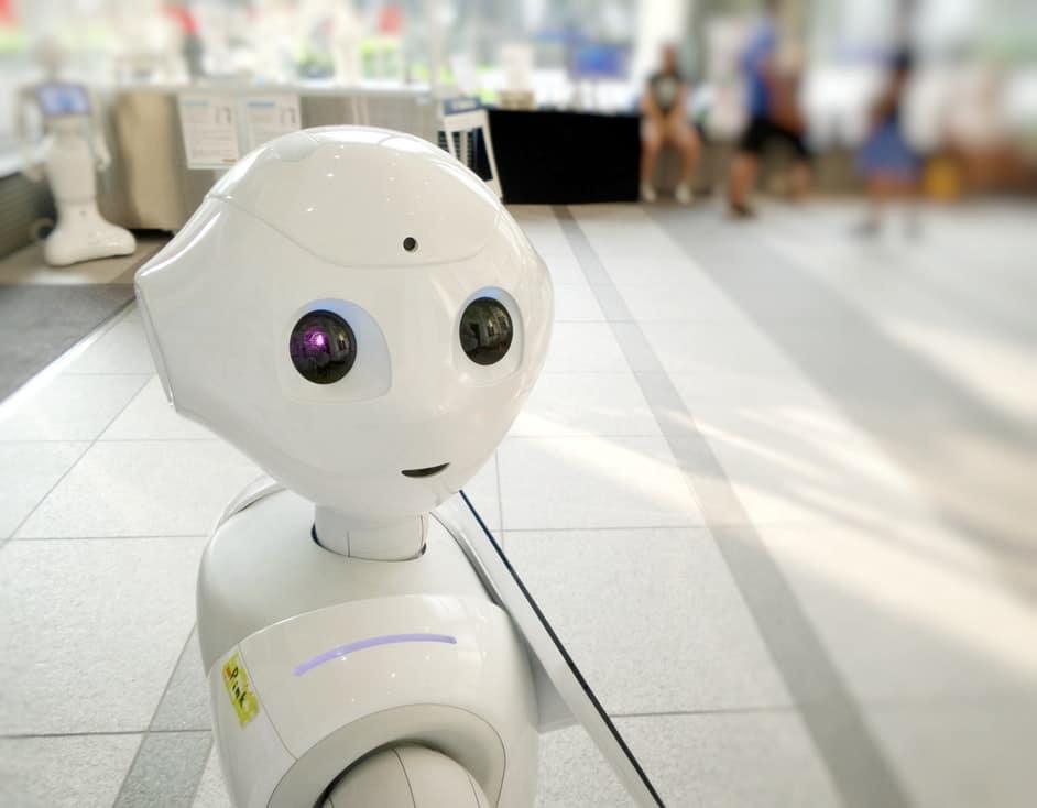 chatbot looking at camera