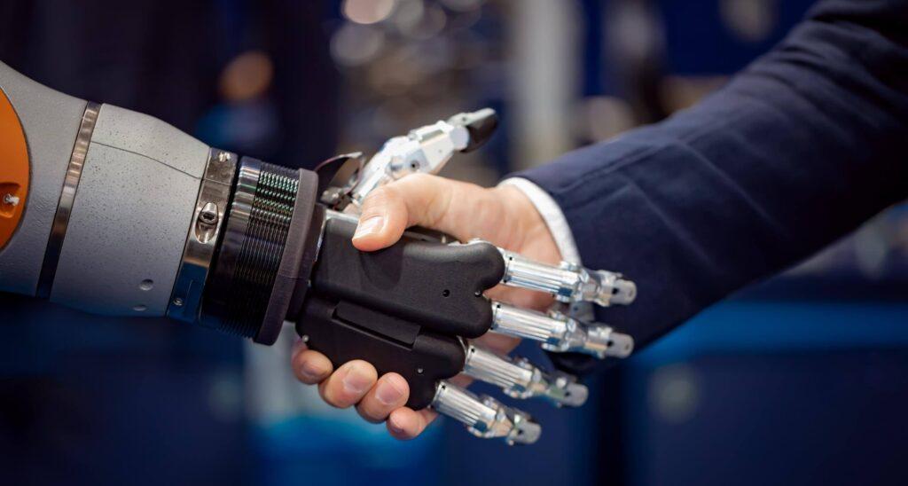 A Bot and Human handshake