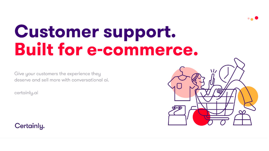 Infographic of Certainly's customer support chatbot.
