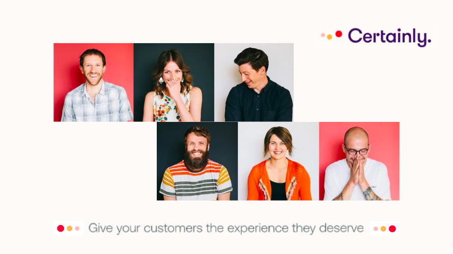 Image of six people with a text: Give your customers the experience they deserve - superior customer service tip