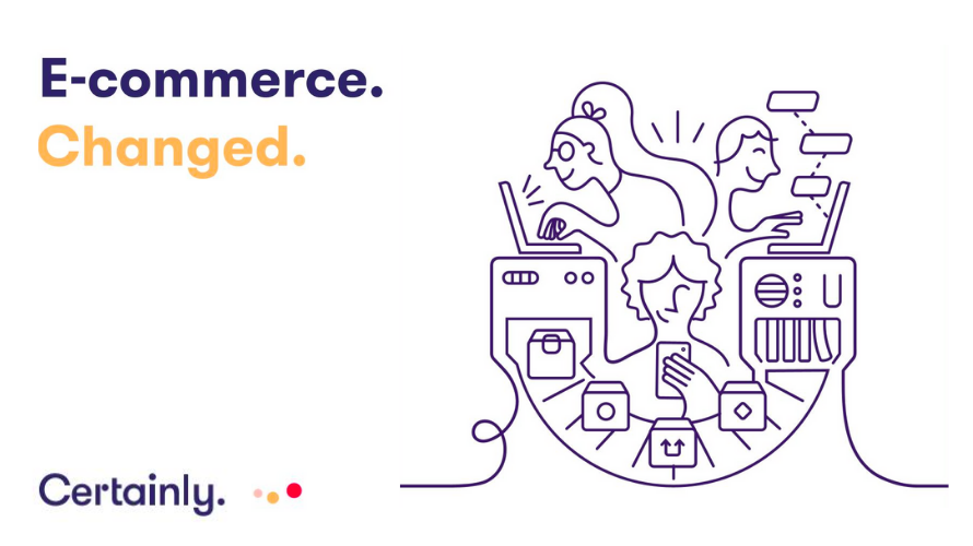 Infographic of how Certainly changes ecommerce with AI bots.