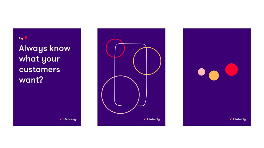 """Certainly brand image in purple: """"Always know what your customers want?"""""""
