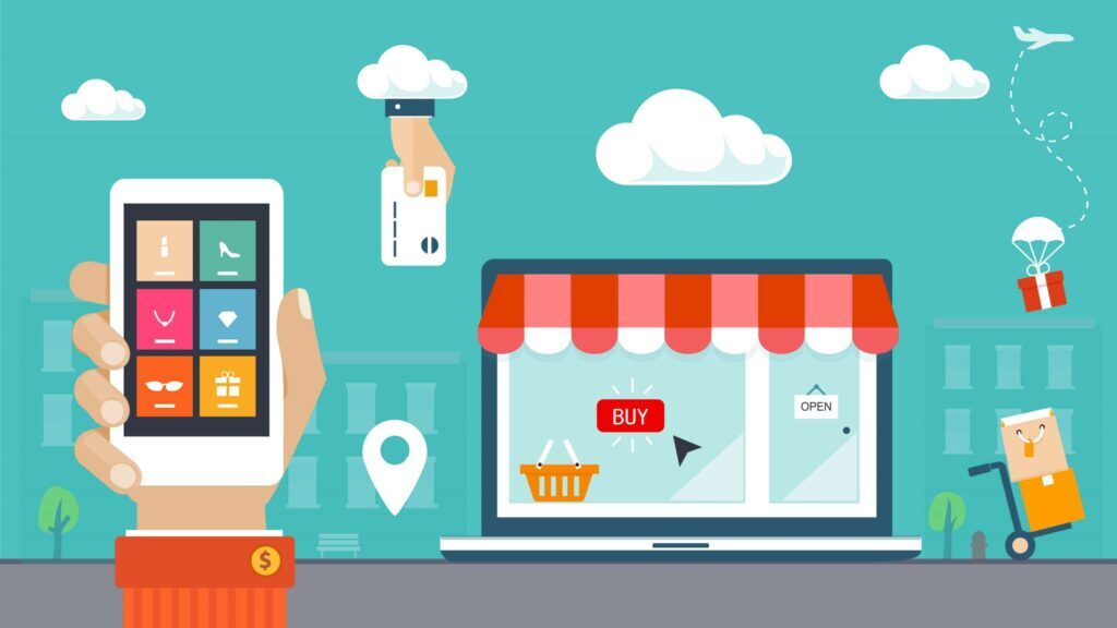 Infographic of an omnichannel shopping experience.