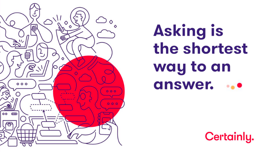 Infographic: Asking is the shortest way to an answer. A way to ensure superior customer service.